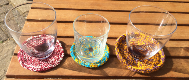3 Crochet Coasters to Cheer up your Table