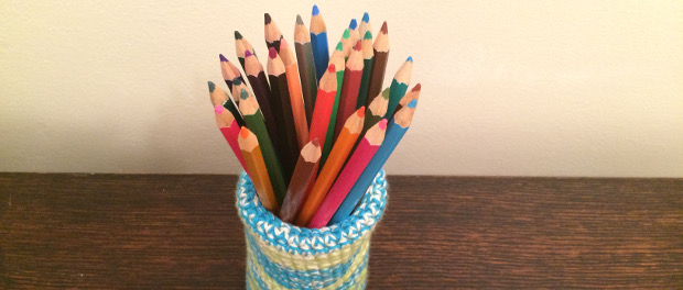 How To Crochet A Basket Pencil Holder