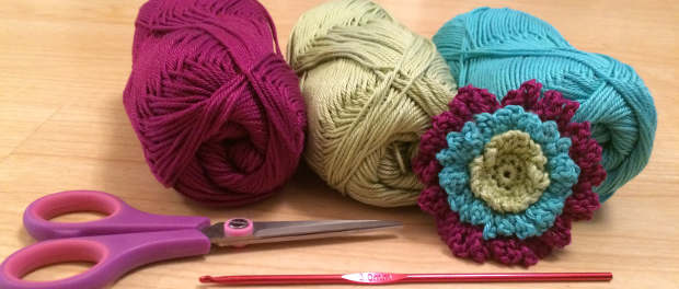 Free Crochet Pattern: Chain Flower