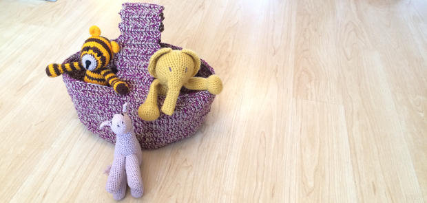How To Crochet A Twine Basket. Free Twine Basket Crochet Pattern.