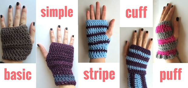 How to Crochet Fingerless Gloves: free crochet patterns