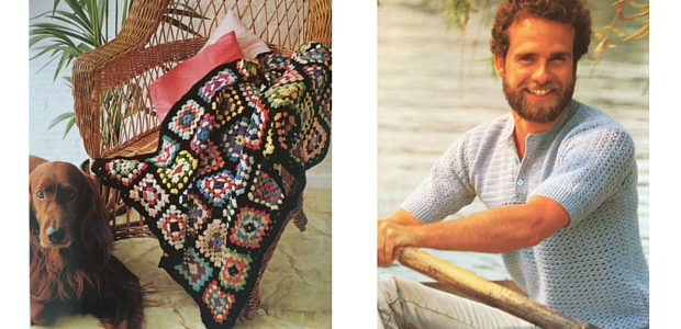 The basic afghan rug (left) and basic lacet t-shirt (right)