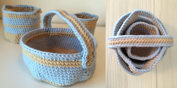 Crochet Basket: Stacking Crochet Basket Patterns