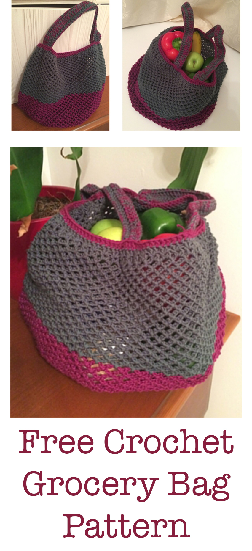 Crochet Grocery Bag - Lucy Kate Crochet