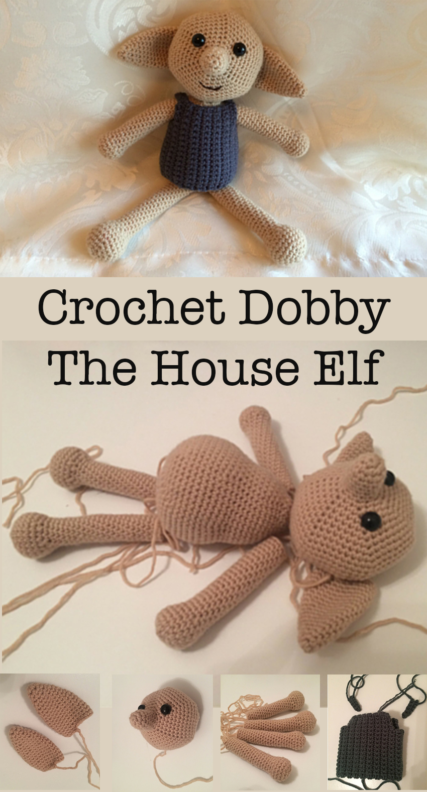 How to Crochet Dobby The House Elf Doll