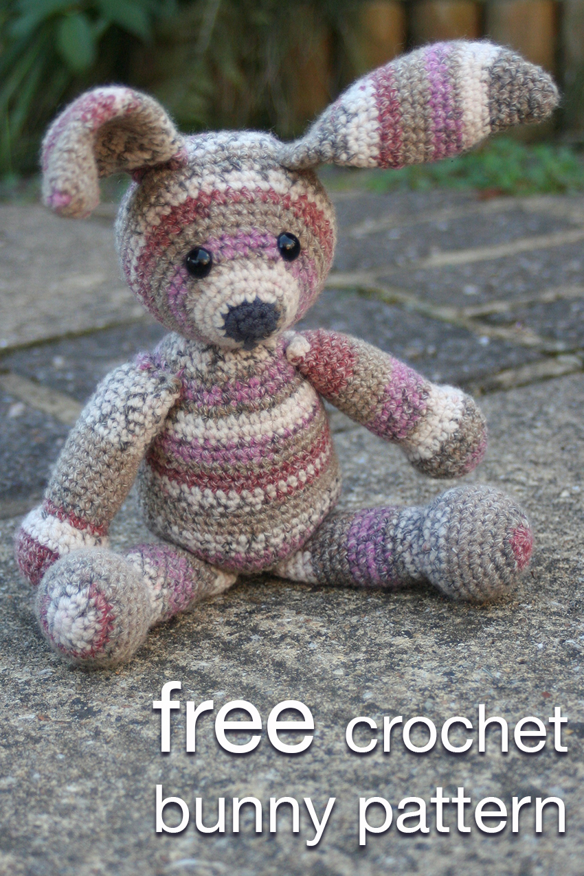 Free Crochet Bunny Pattern. How To Make A Crochet Bunny. Quick, Easy and Fun!
