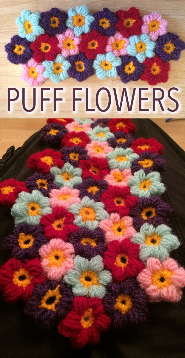 Crochet Puff Flower Patterns Uses Lucy Kate Crochet