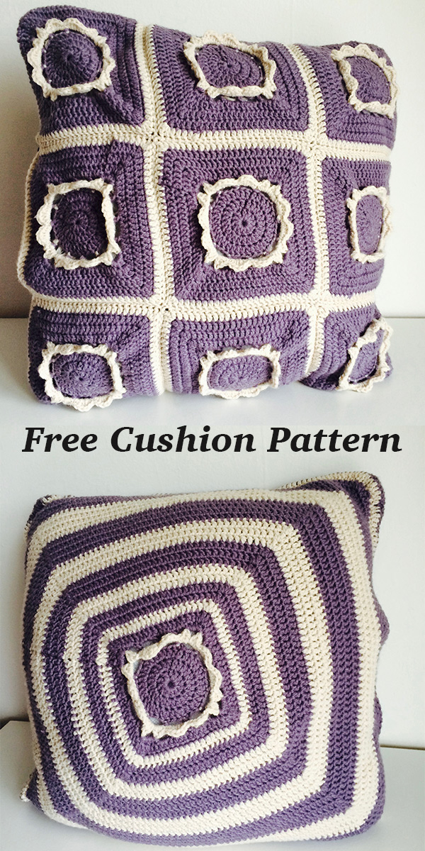 floral crochet cushion pattern