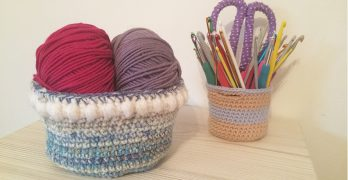Fair Isle Crochet Basket