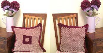 Chenille Crochet Cushion