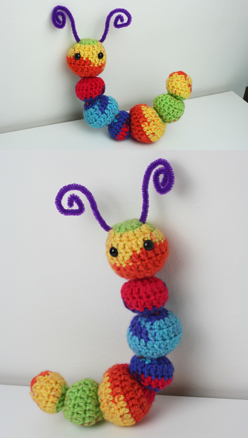 Crochet Rainbow Caterpillar Pattern
