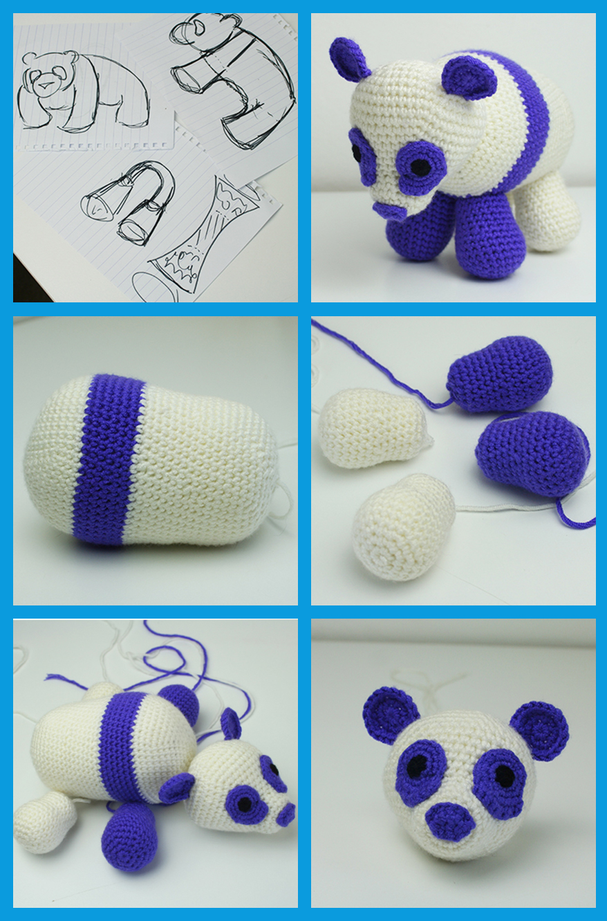 Free Crochet Panda Pattern by Lucy Kate Crochet