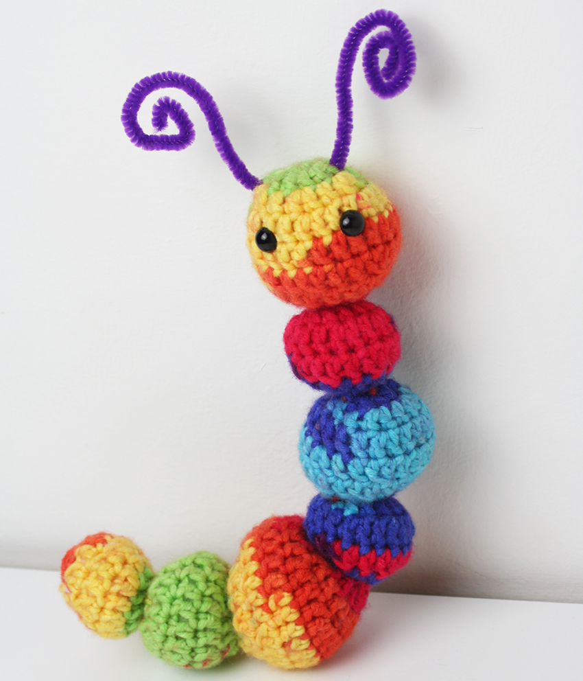 Crochet Rainbow Caterpillar
