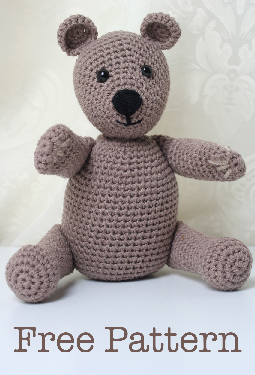 Free Teddy Bear crochet pattern - Amigurumi Today | 1248x850