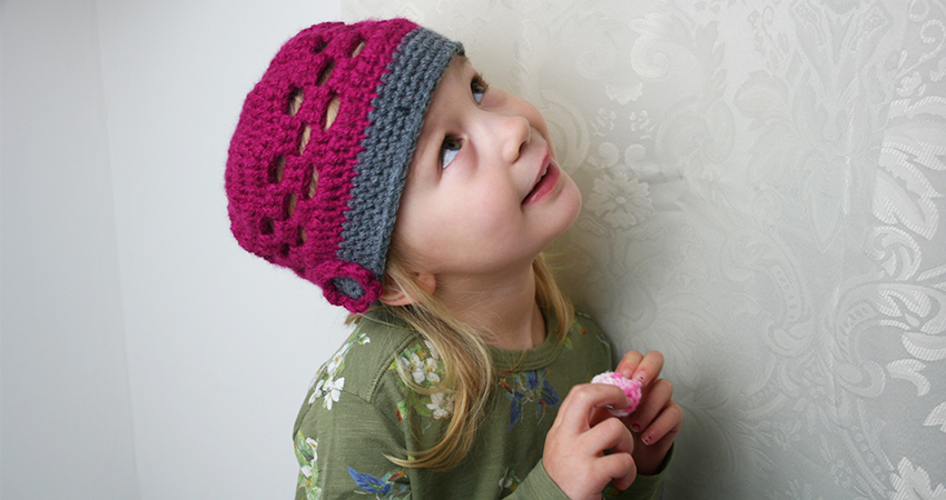 Cute crochet kids hat - an easy free crochet pattern