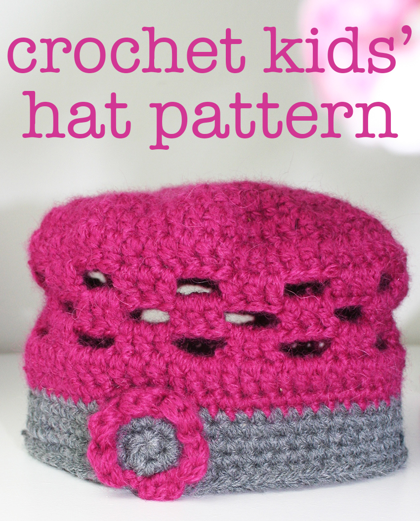Cute Crochet Kids Hat Pattern by Lucy Kate Crochet