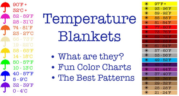 A complete guide to Crochet Temperature Blankets. Patterns, Ideas and Color Charts