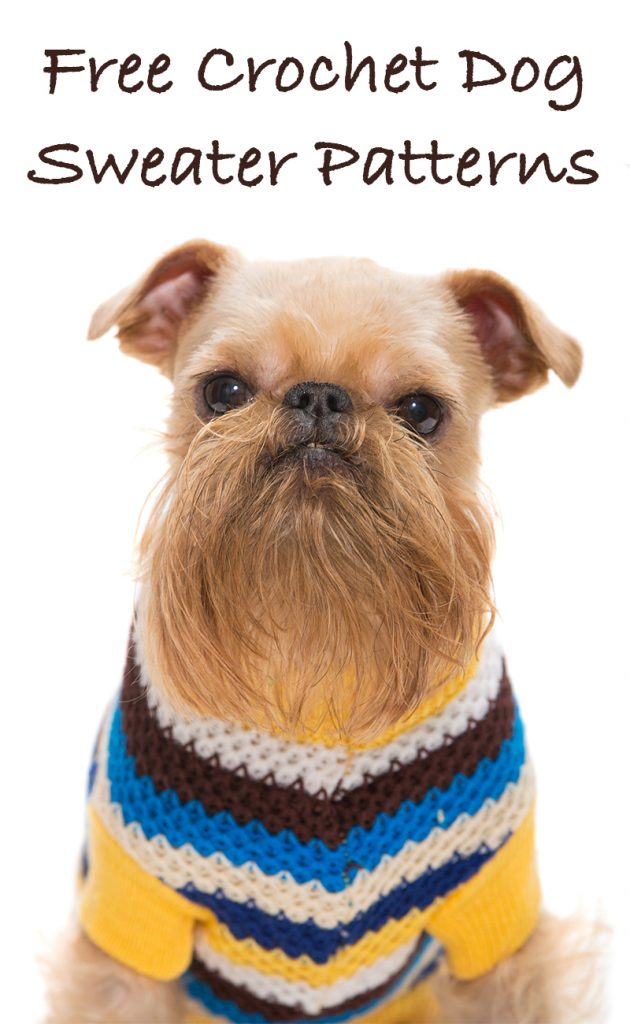 Free Crochet Dog Sweater Patterns - Lucy Kate Crochet