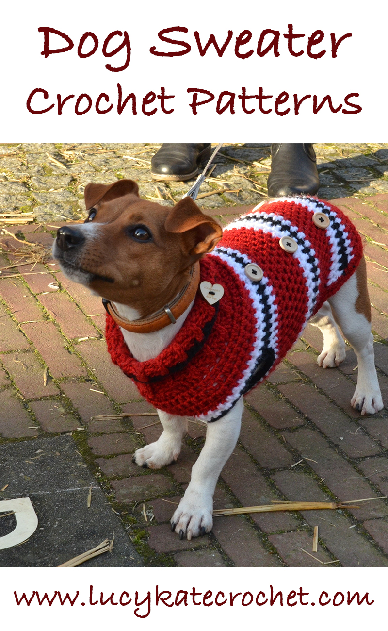 A Guide To The Best Free Crochet Dog Sweater Patterns By Lucy Kate Diagram